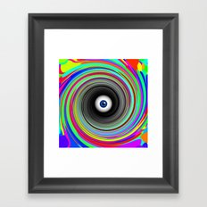 LSD eye  Framed Art Print