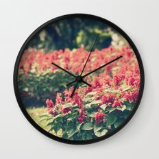 In red Wall Clock