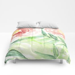 Abstract Tropical Pattern I Comforters