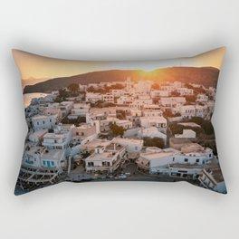 Milos Island Sunset Rectangular Pillow