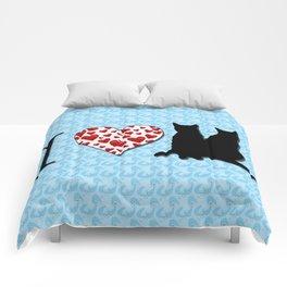 I Heart Cats Comforters