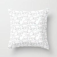 polar bear Throw Pillows featuring polar bear by LOLIA-LOVA