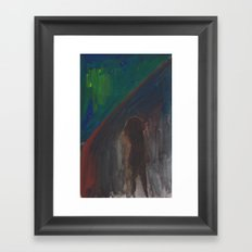 Rainy Street (Watercolour) Framed Art Print