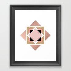 Carré rose Framed Art Print