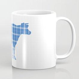 Cow: Light Blue Plaid Coffee Mug