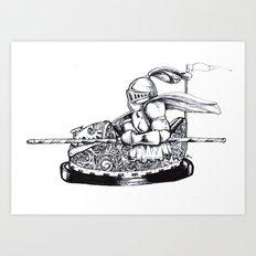 Knight cart bumper Art Print