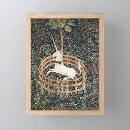 The Unicorn in Captivity (from the Unicorn Tapestries) Framed Mini Art Print