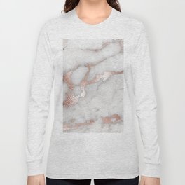 Rose Gold Marble Long Sleeve T-shirt