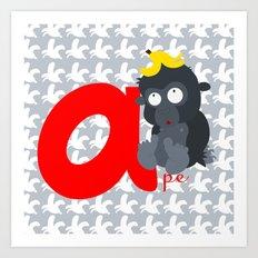 a for ape Art Print