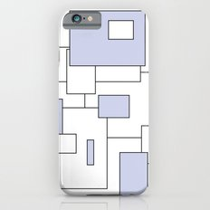 Squares - blue and white. Slim Case iPhone 6s