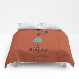 Stalag 17, Billy Wilder, minimal movie poster, alternative film playibill, old Hollywood, cinema Comforters