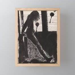 Shadows of love Framed Mini Art Print