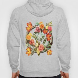 Autumn Flowers and Leaves Hoody