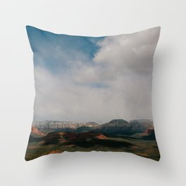 Rain Cloud-Covered Sedona Throw Pillow