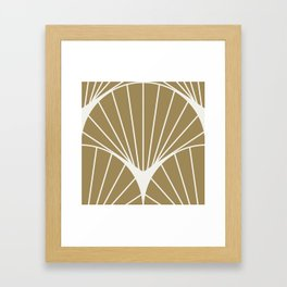 Diamond Series Round Sun Burst White on Gold Framed Art Print