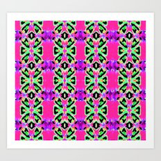 Neon Vibrations Art Print
