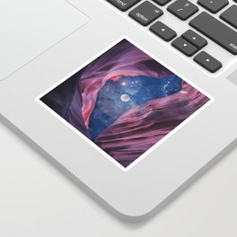 Grand Canyon with Space Collage Sticker