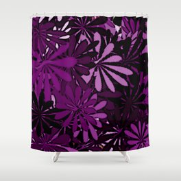 In The Tropics Purple Shower Curtain