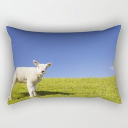 Texel lamb on the island of Texel, The Netherlands Rectangular Pillow