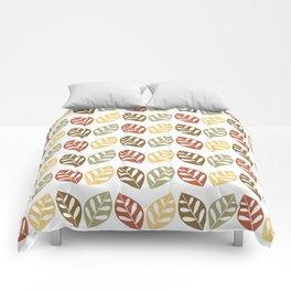 Retro Leaves Pattern Comforters