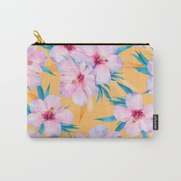 Watercolor Tropical Hibiscus painting -031 Carry-All Pouch
