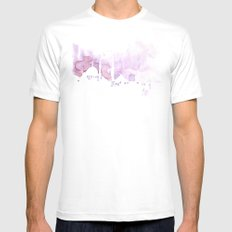 Watercolor landscape illustration_Istanbul MEDIUM White Mens Fitted Tee