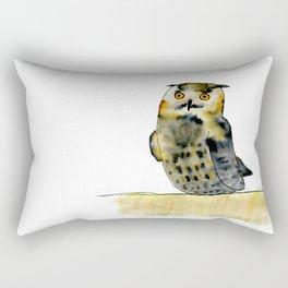 Edward the Eagle Owl Rectangular Pillow