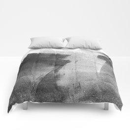Black and Grey Concrete Texture Urban Minimalist Comforters