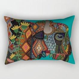 bison teal Rectangular Pillow