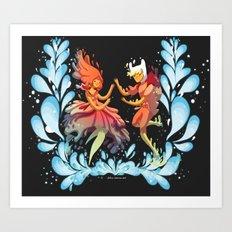 Flame Princess in Love Art Print