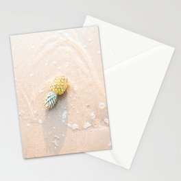 Travel photography print - Pineapple in sea - tropical art print Stationery Cards