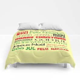 merry christmas in different languages I Comforters