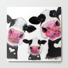CoW PRiNT ANiMaL PRiNT ' THe NoSeY FaMiLY ' BY SHiRLeY MacARTHuR Metal Print