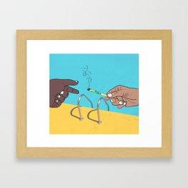 Pass It Framed Art Print
