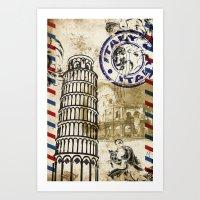italy Art Prints featuring italy by Natasha79