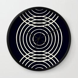 Life Balance Black Wall Clock
