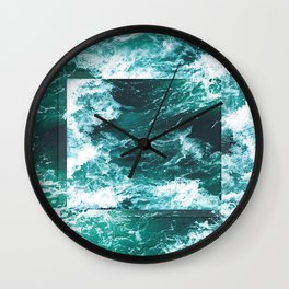 Waves 2 Wall Clock
