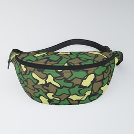 Camouflage Wobble Tile Pattern Fanny Pack