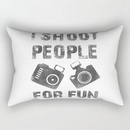I shoot people for fun Rectangular Pillow