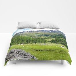 Alpes in summer Comforters