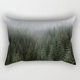 Dizzying Misty Forest Rectangular Pillow