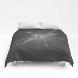 Texture Gray (Grey) Helicopter Modern Print Comforters