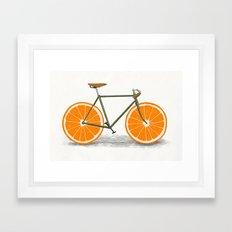 Zest (Orange Wheels) Framed Art Print