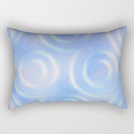 Blue Swirlies Rectangular Pillow