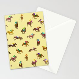 To The Horse Races (Yellow) Stationery Cards