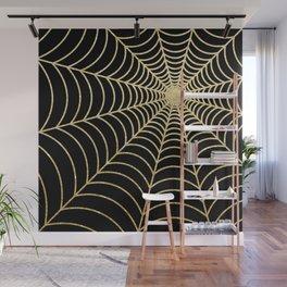 Spiderweb | Gold Glitter Wall Mural