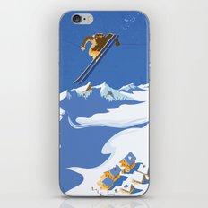Retro Sky Skier iPhone & iPod Skin