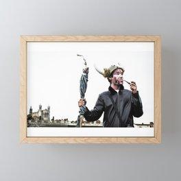 Viking thoughts Framed Mini Art Print