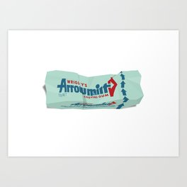 Discarded Bubblegum Wrappers Art Print
