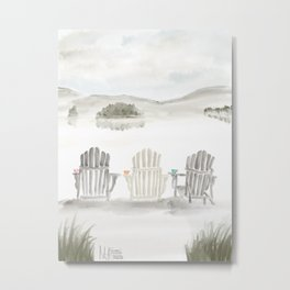 Molasses Pond ● The way the Sweet Life should be Metal Print